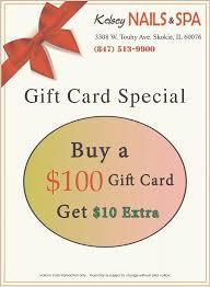 nail salon gift cards gift card nail salon skokie nail salon 60076 kelsey nails spa