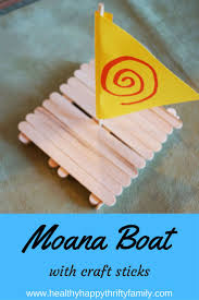 disney moana crafts boat crafts craft sticks and boating