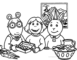 arthur pbs kids coloring page wecoloringpage