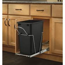built in trash can cabinet pull out built in trash cans cabinet slide under sink for within