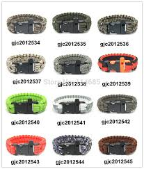 survival bracelet whistle buckle images Dhl free shipping 550 paracord parachute cord lanyard survival jpg