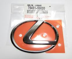 lexus is300 toyota emblem izayn com genuine lexus 75431 53020 new rear