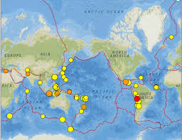 South Pacific Map South Of Australia West Pacific And Wyoming Earthquakes 24
