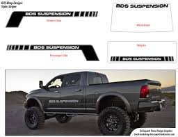 Ford F150 Truck Wraps - logos bds suspension