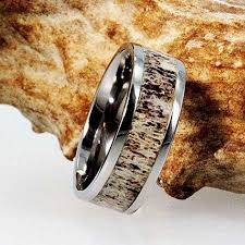 deer antler wedding band antler wedding band made with titanium deer antler ring titanium
