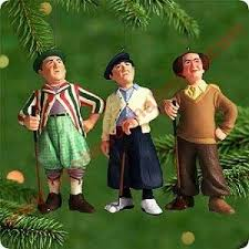 2000 larry moe and curly the three stooges hallmark ornament at