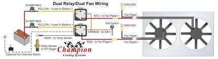 how to wire dual electric cooling fans wiring diagram simonand