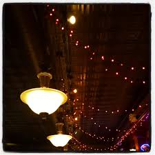 pretty lights and pressed tin ceiling over the bar yelp