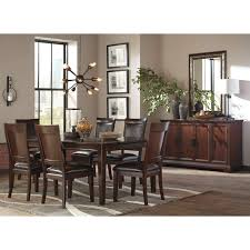 signature design by ashley shadyn brown 8 piece dining room set