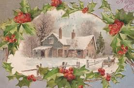 christmas snow scene antique postcard antique postcards vpr