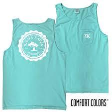Phi Sigma Kappa Flag Sale Sigma Kappa Lagoon Blue Comfort Colors Pocket Tank Campus