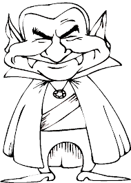 suited halloween coloring pages dracula vampire