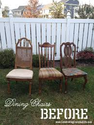 how to recover a dining room chair easily celebrating everyday