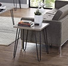 altra home decor amazon com altra owen retro end table sonoma oak gunmetal gray