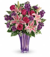 lavender bouquet teleflora s luxurious lavender bouquet in westlake oh flower port
