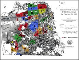 San Francisco Districts Map by Residential Parking Permit Areas San Francisco Real Estate Blog