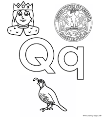 q words alphabet s45b3 coloring pages printable
