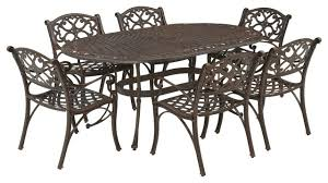 Biscayne Patio Furniture by Biscayne Black 7 Piece Dining Set Traditional Outdoor Dining