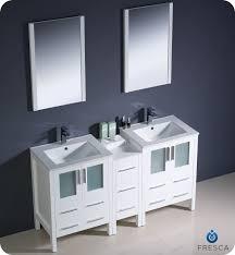 White Double Vanity 60 Fresca Torino 60