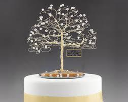 50th anniversary cake ideas personalized wedding anniversary cake topper tree gift idea