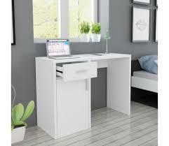 bureau avec tiroir pas cher acheter vidaxl bureau avec tiroir et placard 100x40x73 cm blanc pas