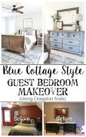 room makeover blue cottage style guest bedroom makeover reveal bless er house