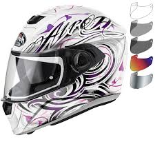 ladies motorcycle helmet airoh storm poison ladies motorcycle helmet u0026 visor full face