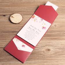 affordable pocket wedding invitations affordable flowers pocket wedding invitation ewpi030 as