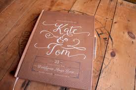 personalized guest book kraft wedding guest book rustic wedding guestbook custom