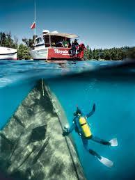 Michigan snorkeling images Wreck dive lake superior michigan best american adventures jpg
