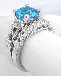 blue topaz engagement rings swiss blue topaz engagement ring in 14k white gold jewelry