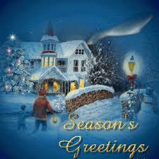 season s greeting card of happy holidays merry and happy
