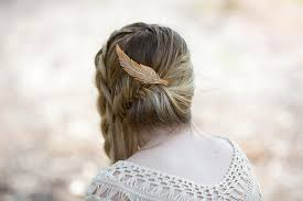 hair barrette feather hair clip feather barrette large hair barrette clip for