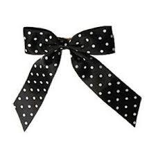 black and white polka dot ribbon big black with white polka dot ribbon bow hairclip polyvore