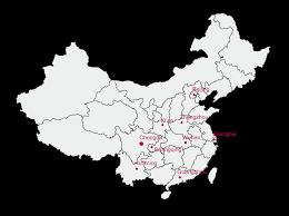 China On The Map by China Offices Lan Bridge Communications Translation