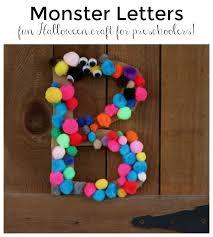 monster letters halloween craft for preschoolers