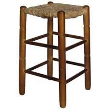 taburete madera taburete madera chopo asiento cuadrado enea