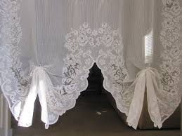 Antique Lace Curtains Antique Lace Curtains Reduced Vintage Lace Curtain White