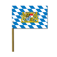 Flag Measurements Bavarian Lion Crest 4in X 6in Party Flag 6 Pack