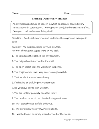 figurative content by subject worksheets figurative language worksheets