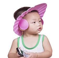 baby shower cap buy futaba adjustable baby bath shower cap with ear shield pink