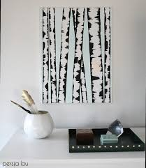 Birch Tree Decor Make Diy Birch Tree Art Persia Lou