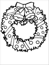 wreath coloring page free coloring pages for christmas children