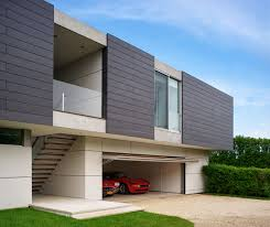 contemporary duplex house design with a plenty of overhang awesome