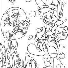 pinocchio jiminy 1 coloring pages hellokids