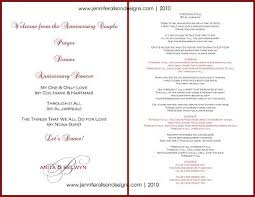 wedding anniversary program 50th wedding anniversary reception program fresh wedding