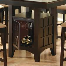 coaster hyde counter height square dining table with storage base
