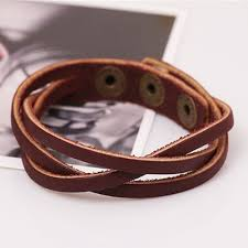 leather wrap bracelet women images Qoo10 vintage snap bracelet men women adjustable leather wrap jpg