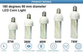 high brightness led corn light 45w e27 5000 lumen led bulb light