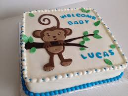 monkey baby shower cake monkey baby shower cake chocolate with vanilla buttercream